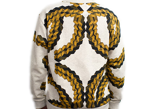 HENRIK VIBSKOV BRICK ON MELANGE PRINTED SWEATSHIRT