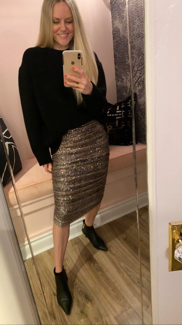 Le Superbe Rockstar Snakeskin Skirt - Sequin