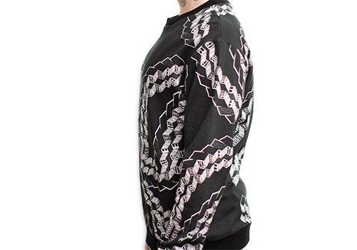 HENRIK VIBSKOV BRICK ON BLACK PRINTED SWEATSHIRT