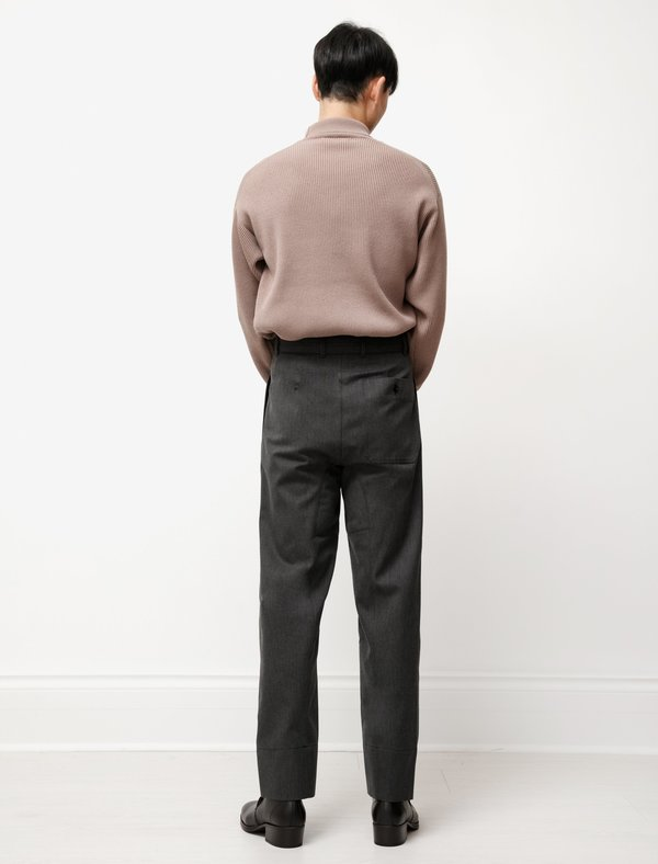 Lemaire 4 Pleats Pants - Anthracite