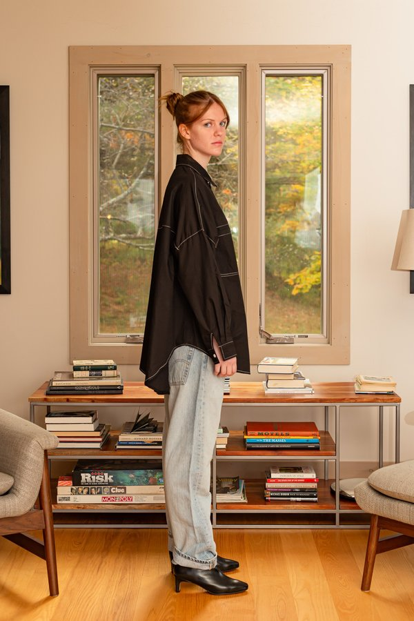 """""""INTENTIONALLY __________."""" REFERENCE BLOUSE - black"""