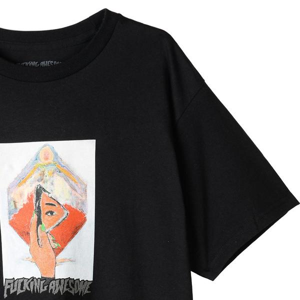 Fucking Awesome Dill Mirror Painting T-shirt - Black