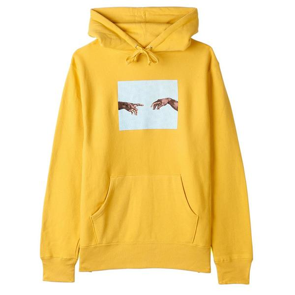 Fucking Awesome Nak Hands Pullover Hoodie - Mustard