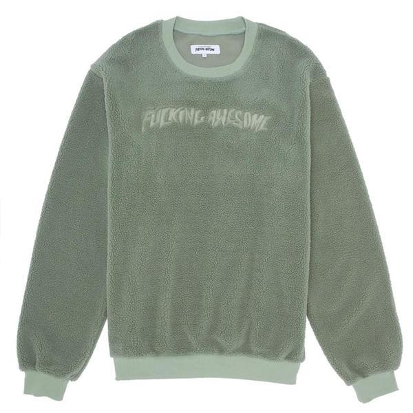 Fucking Awesome Pile Polar Fleece Crewneck sweater - green