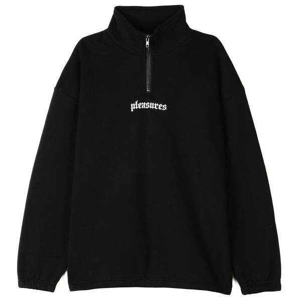 Pleasures Harmony Quarter Zip - Black