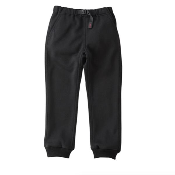 Gramicci Bonding Knit Fleece Narrow Rib Pants - Black