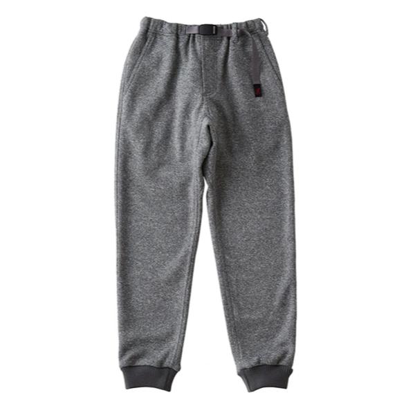 Gramicci Bonding Knit Fleece Narrow Rib Pants - Heather Grey