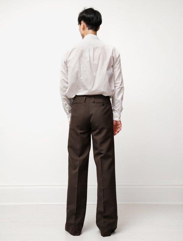 Lemaire Wide Leg Pants - Dark Brown