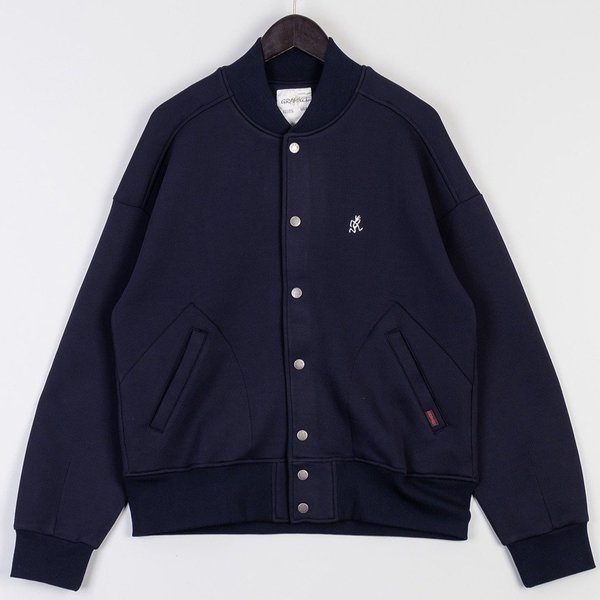Gramicci Tech Knit Stadium Jacket - Double Navy