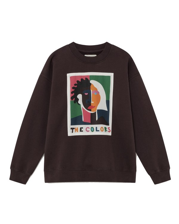 Thinking Mu W The Colors sweatshirt - Chocolate