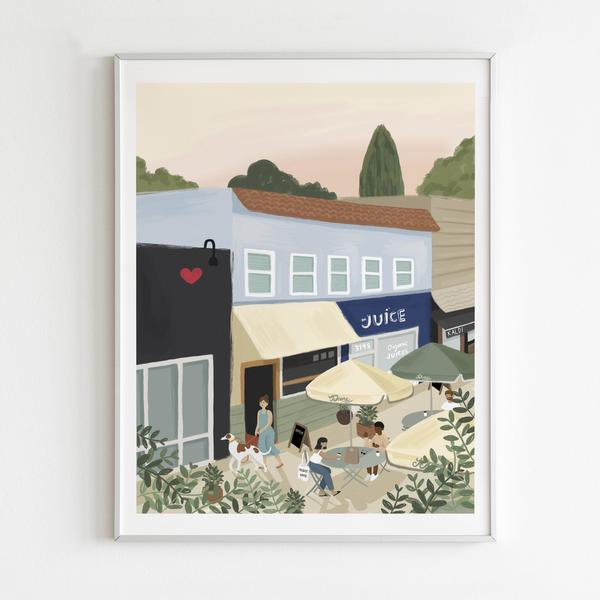 By Persimmon Atwater Village Limited Edition Framed Print