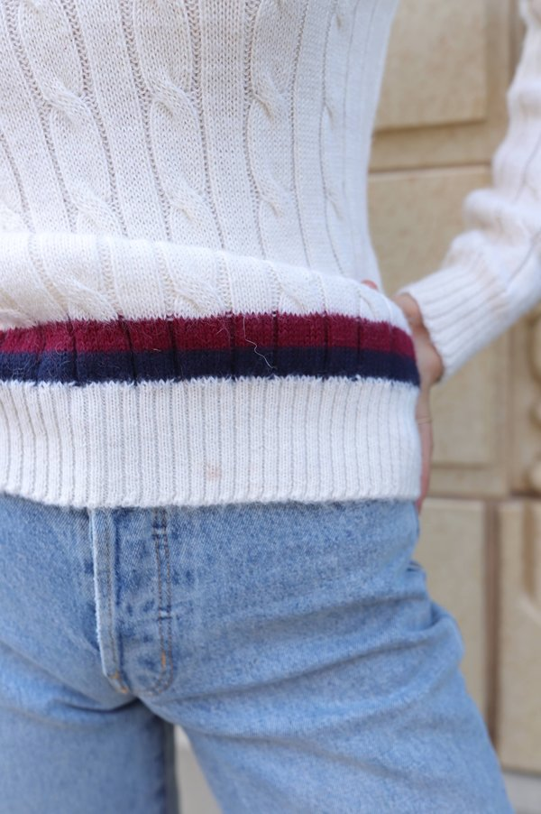 Vintage Peruvian Connection Collegiate Sweater