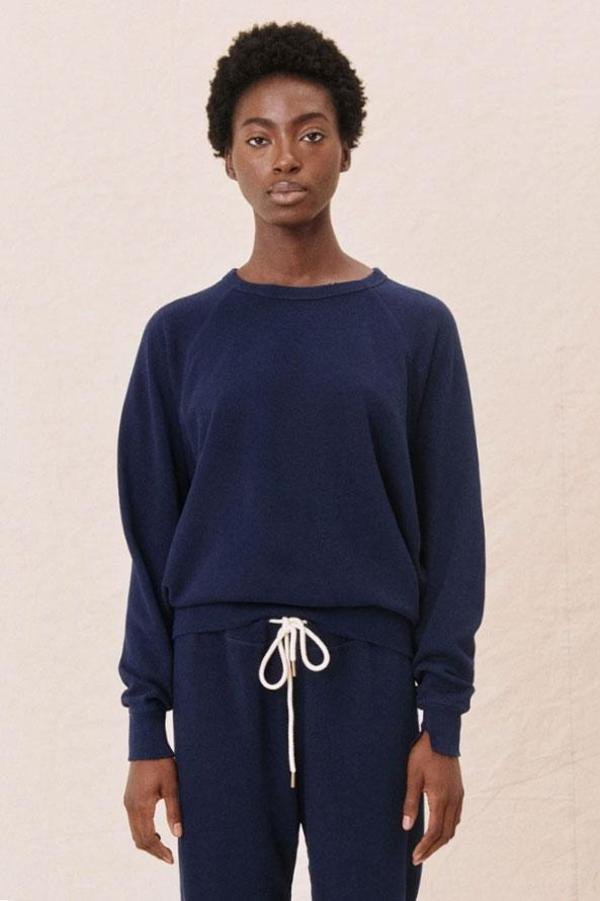 The Great. The College Sweatshirt - Bright Navy