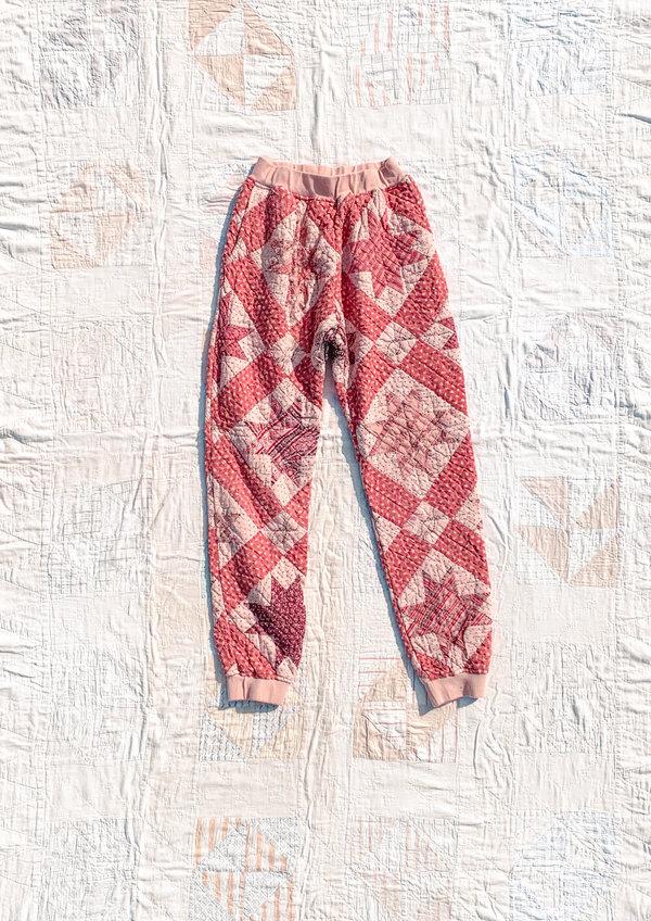 Carleen Quilt Sweats - Pink Overdye