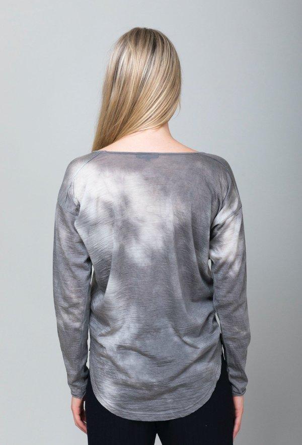 Pas de Calais Wool V-neck Tee - Grey