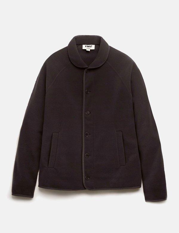 YMC Beach Jacket in Fleece - Black