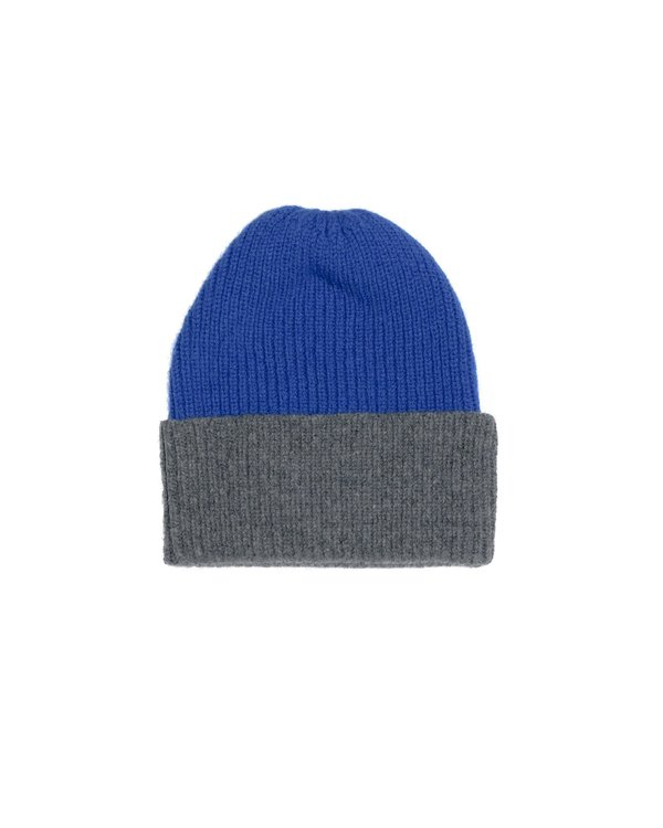 Country of Origin CONTRA LAMBSWOOL HAT - BLUE