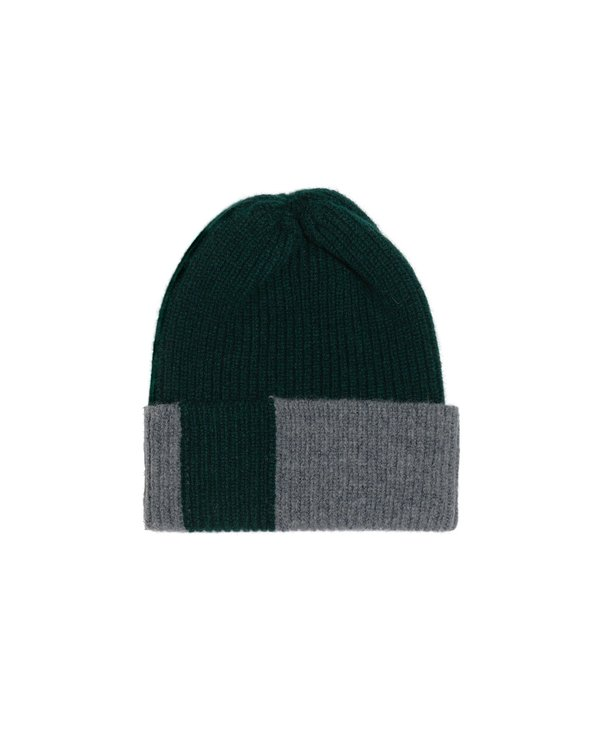 PATCH LAMBSWOOL HAT • NAVY