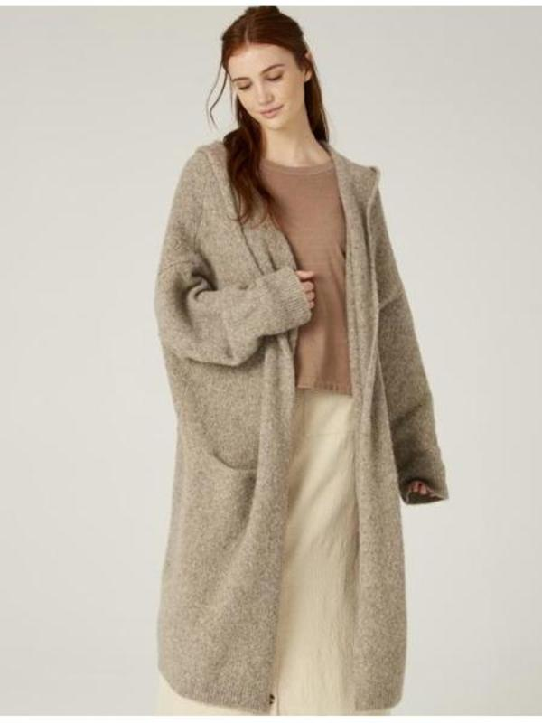 Filosofia Gabrielle Sweater Coat - taupe