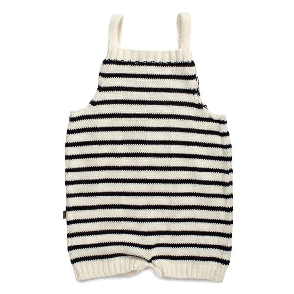 Kid's Oeuf Knit Romper Navy Stripe