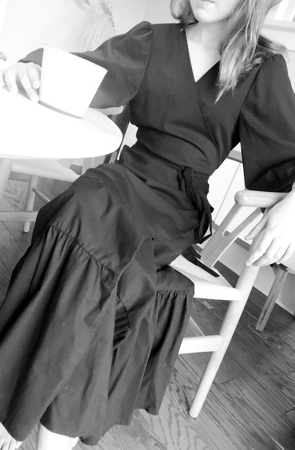 Pley Penelope Wrap Dress - Black