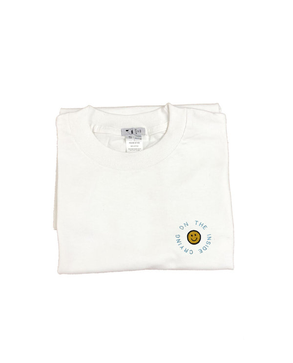 unisex house of 950 crying on the inside special edition embroidery tee shirt