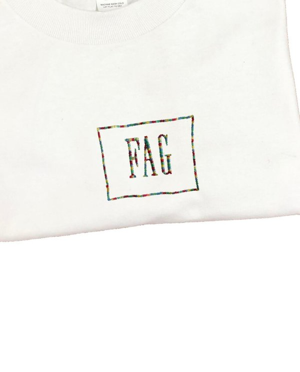 unisex house of 950 fag embroidery tee shirt