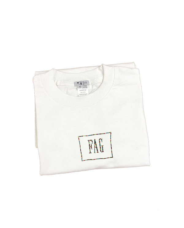 unisex house of 950 fag / hag combo embroidery tee shirt