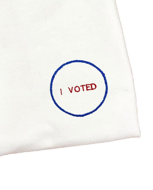 unisex house of 950 I VOTED special edition embroidery tee shirt