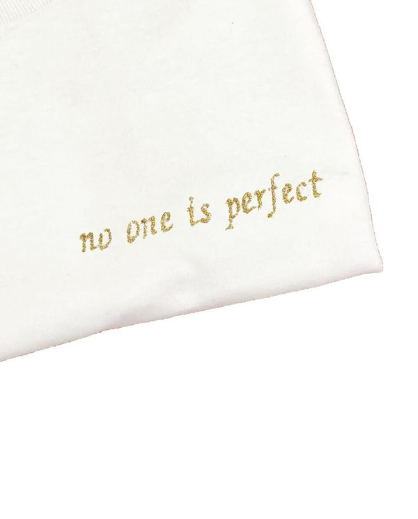 unisex house of 950  no one is perfect embroidery tee shirt
