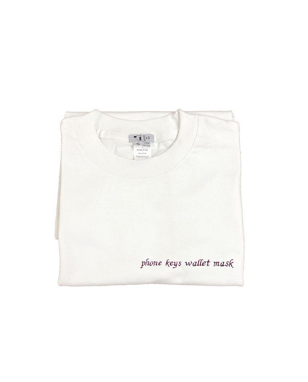 unisex House of 950 phone keys wallet mask embroidery tee shirt