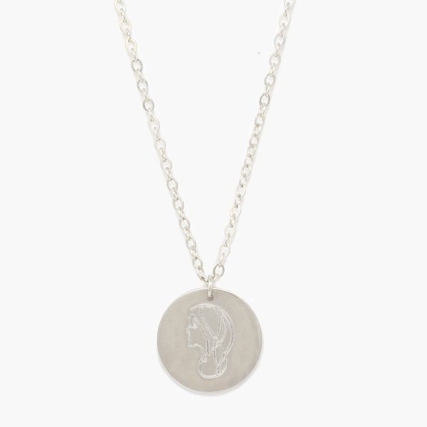 Able She's Worth more Portrait Heirloom Necklace - sterling silver
