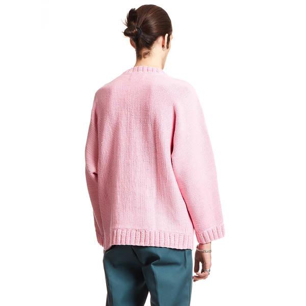 MARTINE ROSE Hand knitted jumper - Pink