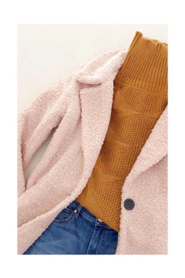 Waverly Grey Ren Teddy Coat - Blush Pink