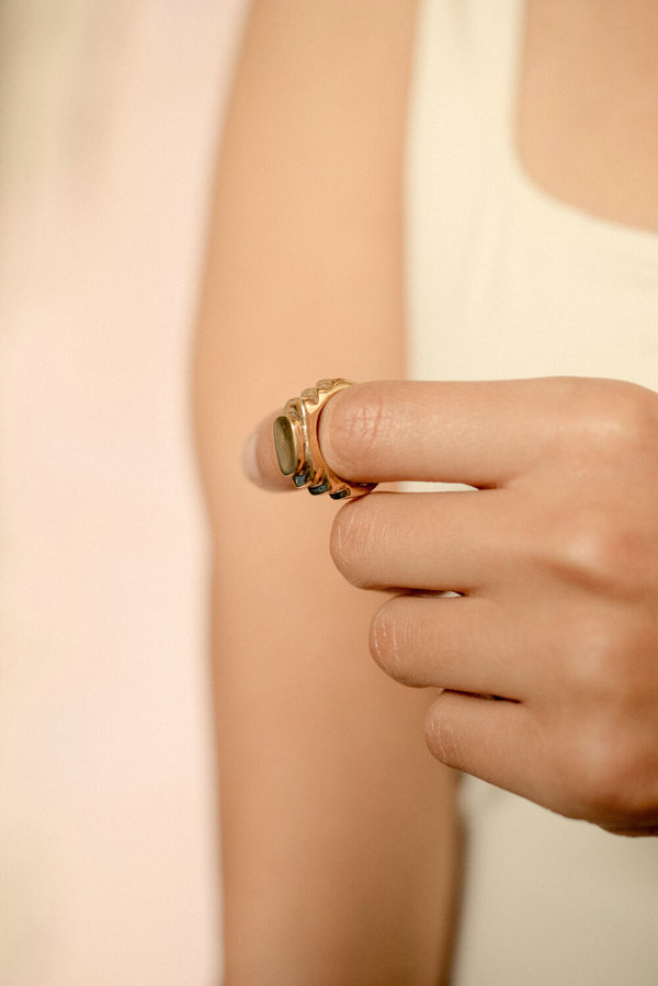 Eyde gelleh lost wax casting ring - Recycled Metal Options (Brass/ Silver/ 14k Gold)