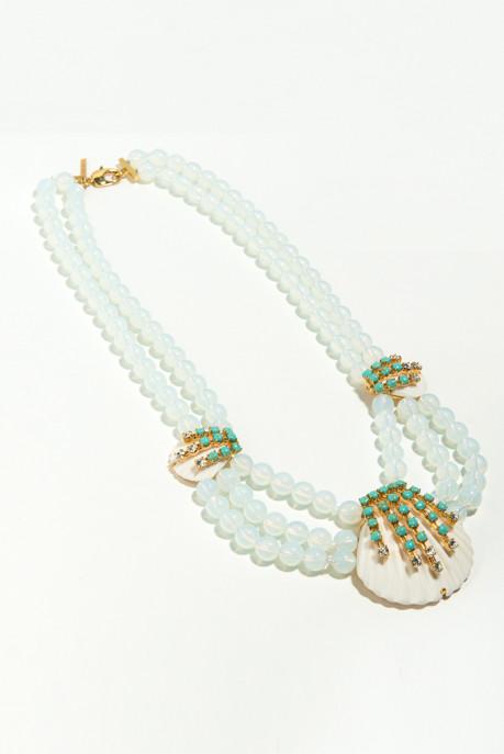 Lele Sadoughi Seafoam Seashell Necklace