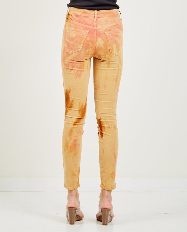 Mother Denim High Waisted Looker Ankle Jean - Tie-Dye Hopscotch