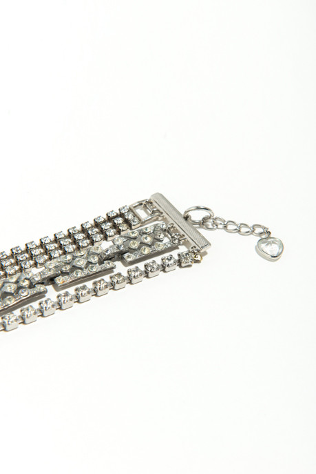 Musa Tryon Three Strand Rhinestone Bracelet