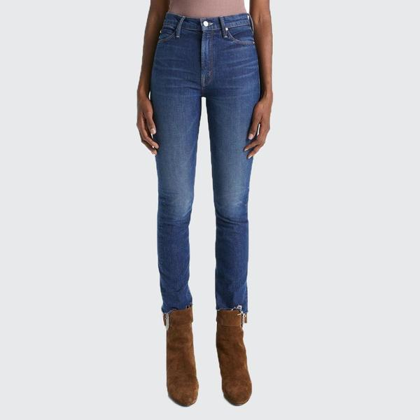 Mother Denim The Dazzler Ankle Fray Jeans - Painfully Obvious