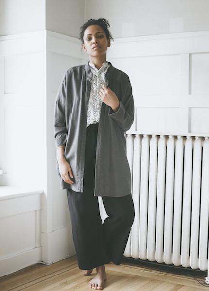 Black Crane Square Shirt - Dark Shadow