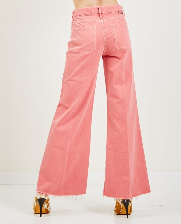Mother Denim The Patch Pocket Roller Fray Jeans - Mauve Glow