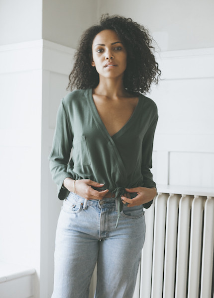 First Rite Crossover Blouse - Jade
