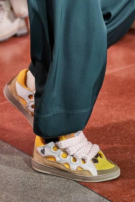 Lanvin Skate Leather Curb Sneakers - Dark Beige