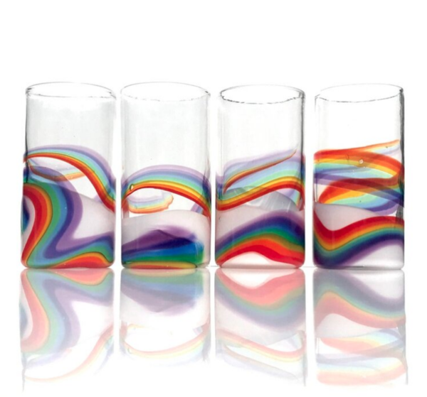 Rainbow Glass Productions Rainbow Mojito Glass