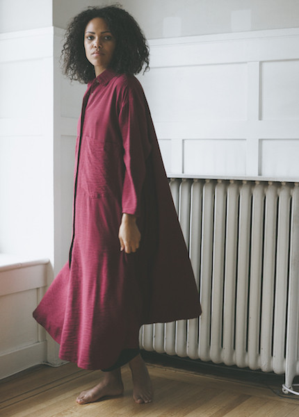 Sunja Link Ox Blood Shirt Dress