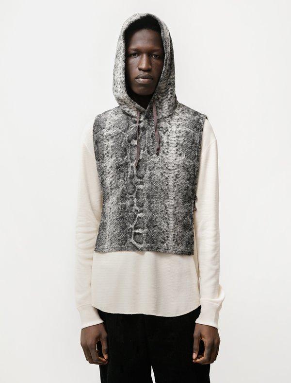 Engineered Garments Hooded Interliner - Snake Print Grey