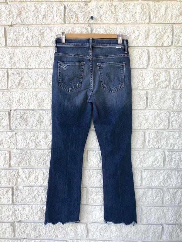 Mother Denim The Insider Crop Step Chew Jeans