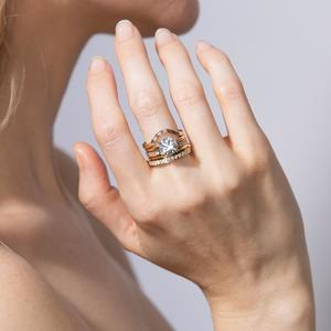 Shahla Karimi Curved Asymmetrical Baguette Band Ring