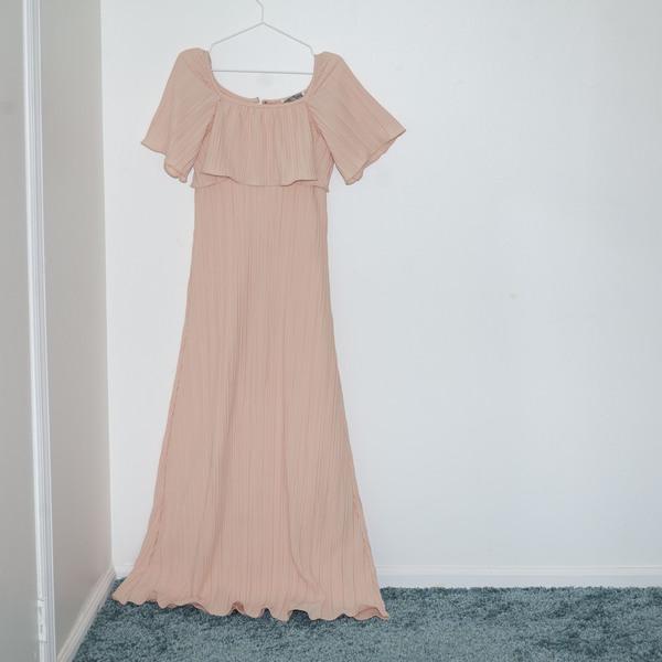 Kintsugi Plisse Dress -  Pink
