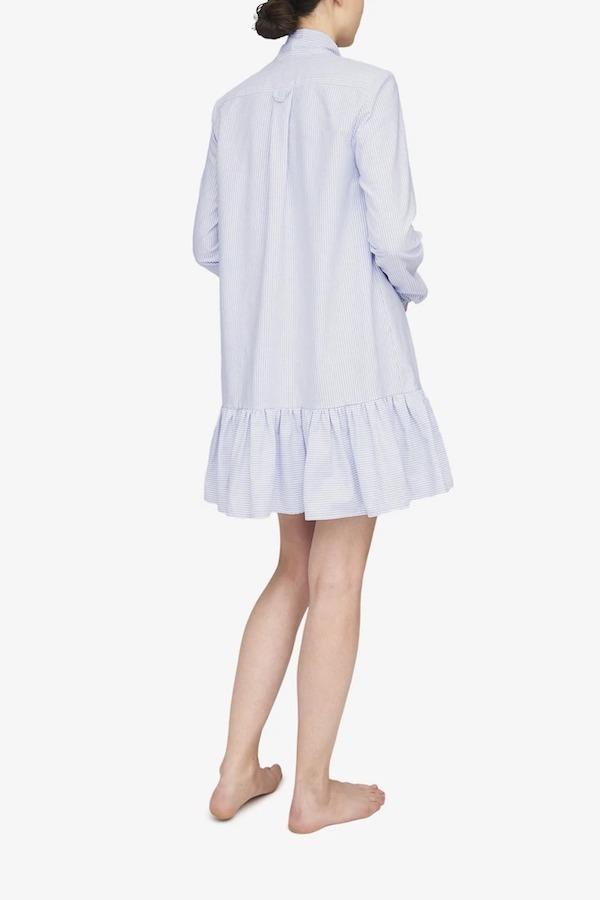 Matlo Atelier x The Sleep Shirt Helena Dress - Blue Oxford Stripe
